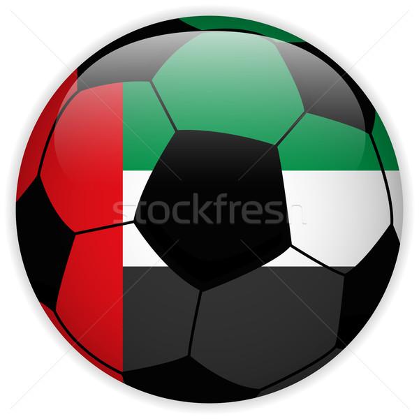 Bayrak futbol topu vektör dünya futbol yeşil Stok fotoğraf © gubh83