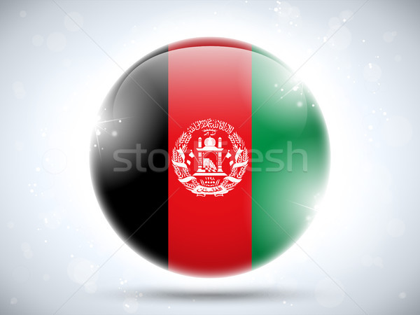 Afghanistan Flag Glossy Button Stock photo © gubh83
