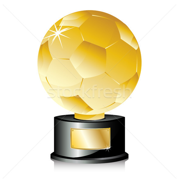 Golden Ball Soccer Trophy Champion. Stock photo © gubh83