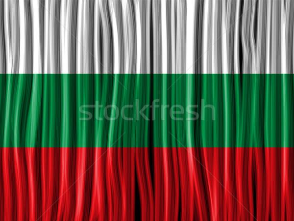 ブルガリア フラグ 波 ファブリック テクスチャ ベクトル ストックフォト © gubh83