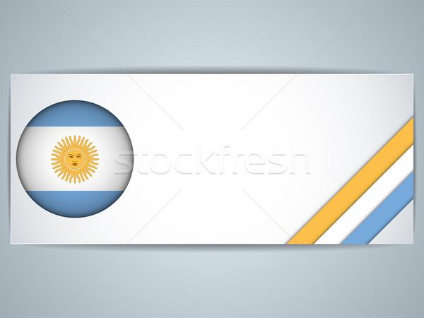 Argentyna kraju zestaw banery wektora działalności Zdjęcia stock © gubh83