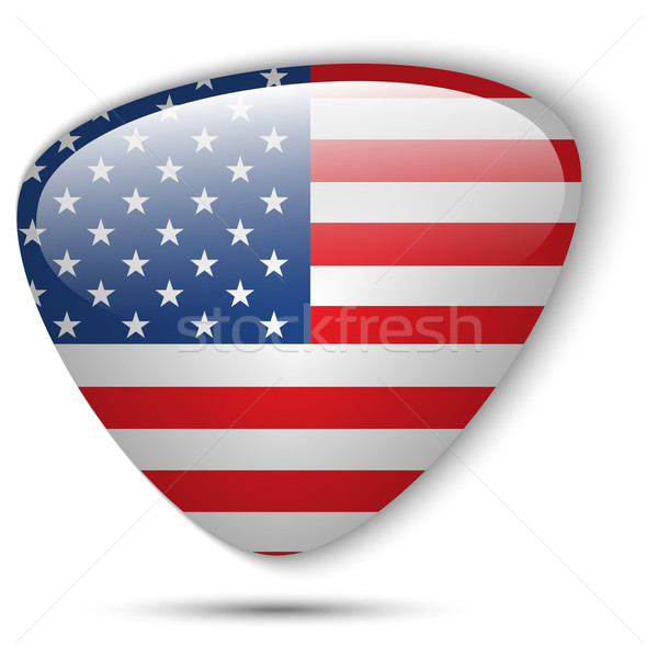 USA Flag Glossy Button Stock photo © gubh83