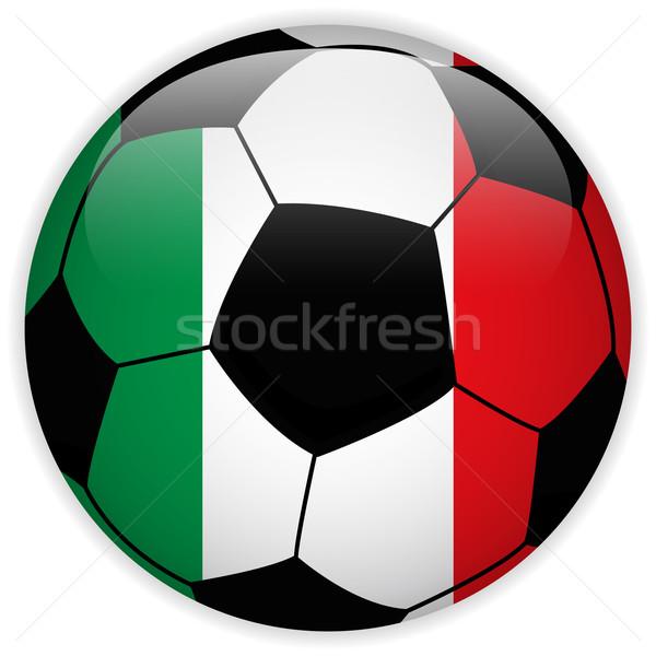 Włochy banderą piłka wektora świat piłka nożna Zdjęcia stock © gubh83