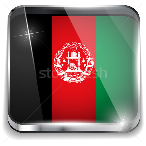 Афганистан флаг смартфон применение квадратный Кнопки Сток-фото © gubh83