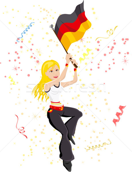 Germany Soccer Fan with flag.  Stock photo © gubh83