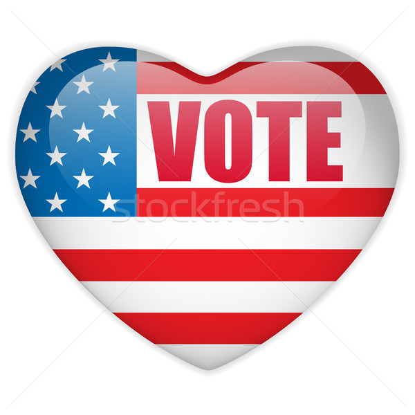 United States Election Vote Heart Button. Stock photo © gubh83