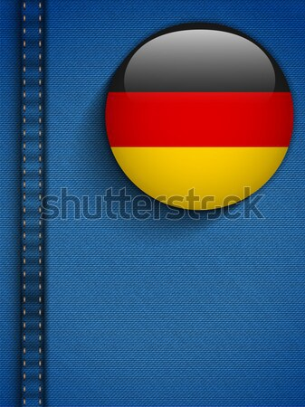 Gay Flag Button on Jeans Fabric Texture Germany Stock photo © gubh83