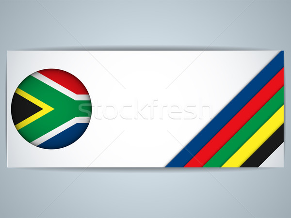 South Africa Country Set of Banners Stock photo © gubh83