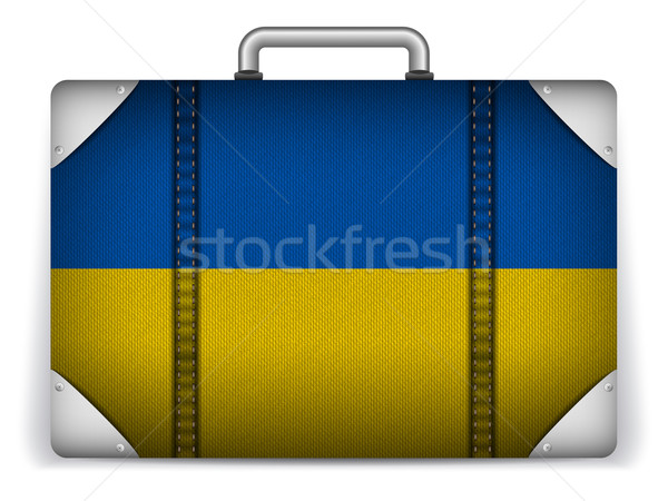 Ukraine Travel Luggage with Flag for Vacation Stock photo © gubh83