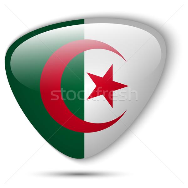 Algérie pavillon bouton vecteur verre Photo stock © gubh83