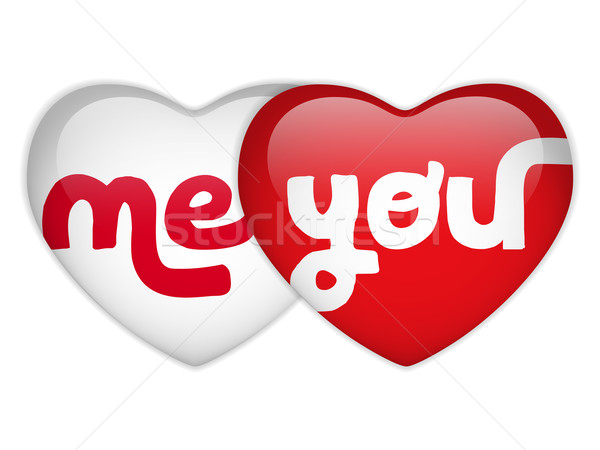 Valentijn dag me hart vector papier Stockfoto © gubh83