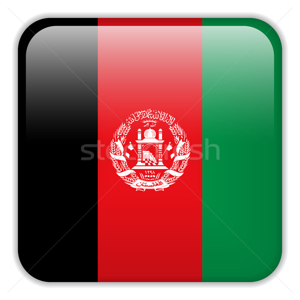Afghanistan Flag Smartphone Application Square Buttons Stock photo © gubh83