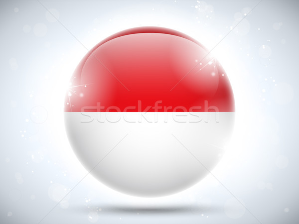 Монако флаг кнопки вектора стекла Сток-фото © gubh83