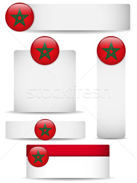 Marrocos país conjunto banners vetor negócio Foto stock © gubh83