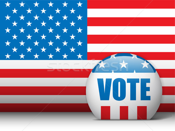 USA Vote Background with American Flag Stock photo © gubh83