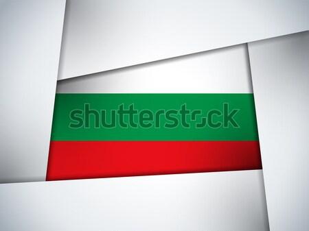 ブルガリア 国 フラグ 幾何学的な ベクトル ビジネス ストックフォト © gubh83