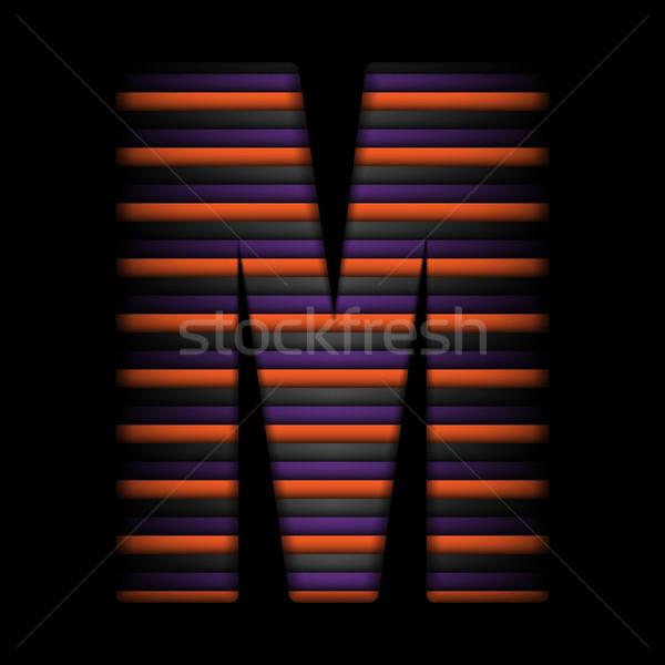 Halloween alfabe harfler şerit siyah turuncu Stok fotoğraf © gubh83