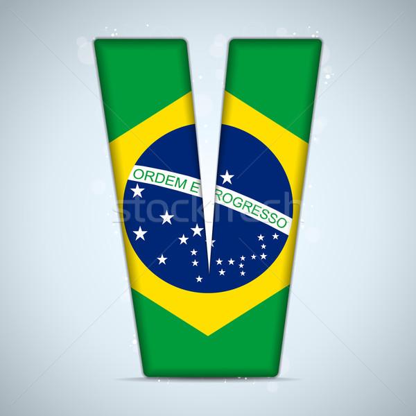 Brazilië vlag alfabet brieven woorden vector Stockfoto © gubh83