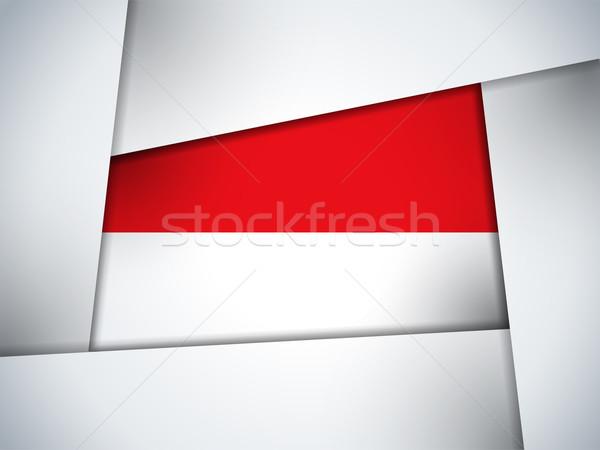 Монако стране флаг геометрический вектора бизнеса Сток-фото © gubh83