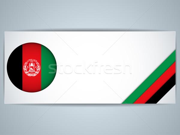 Afganistan kraju zestaw banery wektora działalności Zdjęcia stock © gubh83