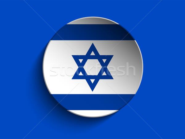 Israël vlag papier cirkel schaduw knop Stockfoto © gubh83