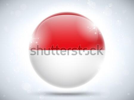 Pavillon papier cercle ombre bouton Pologne Photo stock © gubh83