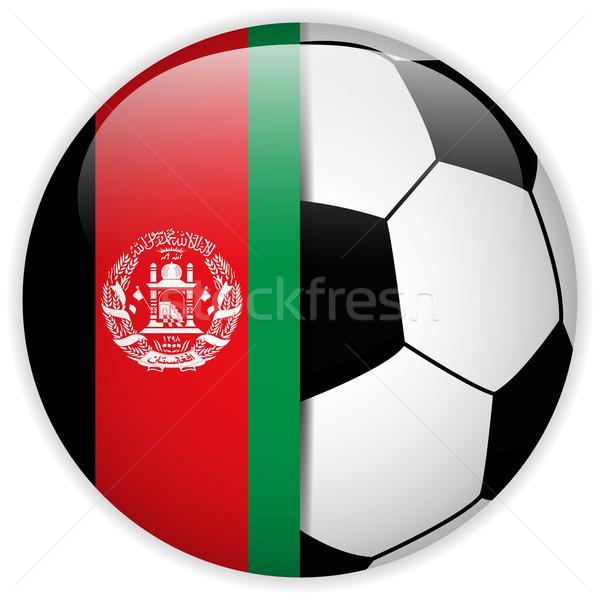 Afganistan bayrak futbol topu vektör dünya futbol Stok fotoğraf © gubh83