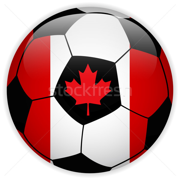 Kanada banderą piłka wektora świat piłka nożna Zdjęcia stock © gubh83