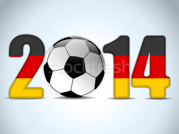 Germany 2014 Soccer with German Flag Stock photo © gubh83