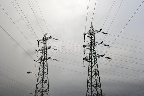 Alta tensão elétrico quadro cabo industrial energia Foto stock © Gudella