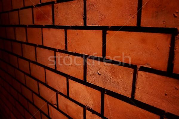 Tijolos parede de tijolos parede fundo urbano Foto stock © Gudella