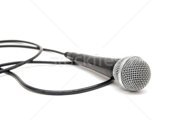 Stok fotoğraf: Mikrofon · yalıtılmış · beyaz · arka · plan · uzay