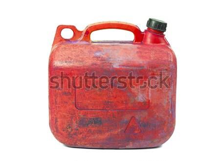 Can kırmızı plastik beyaz arka plan şişe Stok fotoğraf © Gudella