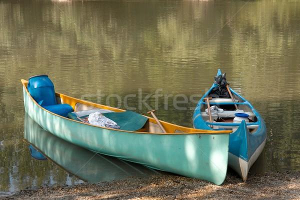 Kürek çekme nehir tur spor yaz seyahat Stok fotoğraf © Gudella