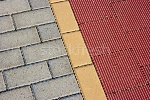 Bruk tekstury kamień budowy czerwony Zdjęcia stock © Gudella
