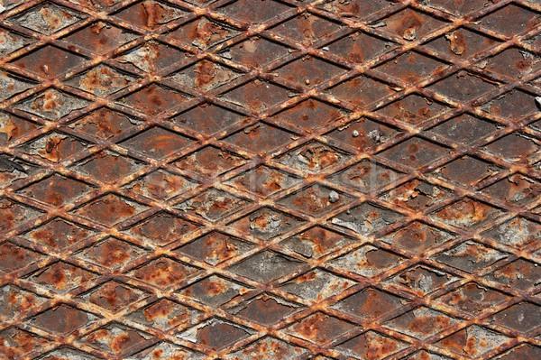 ржавые кусок старые железной структуры текстуры Сток-фото © Gudella