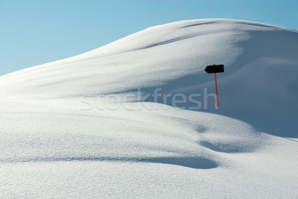 Neve branco paisagem direção assinar céu Foto stock © Gudella