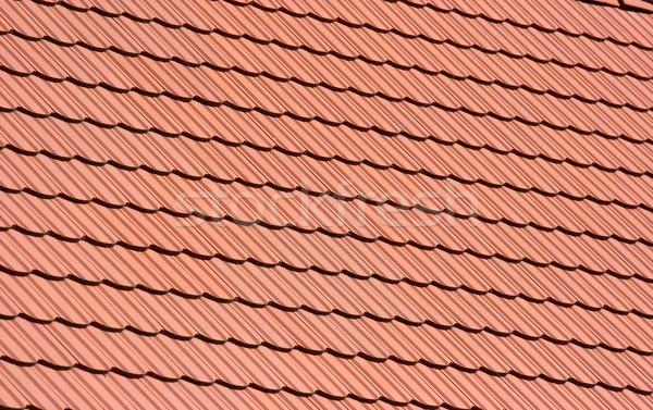 Telhado padrão limpar vermelho azulejos casa Foto stock © Gudella