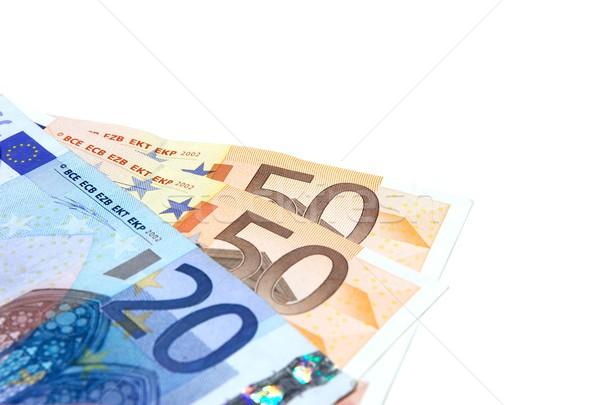 Euro notas isolado branco negócio Foto stock © Gudella