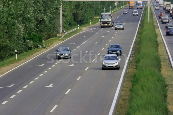 Rodovia carros ocupado negócio caminhão viajar Foto stock © Gudella