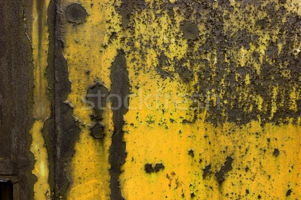 Roestige oude metaal plaat vallen Stockfoto © Gudella