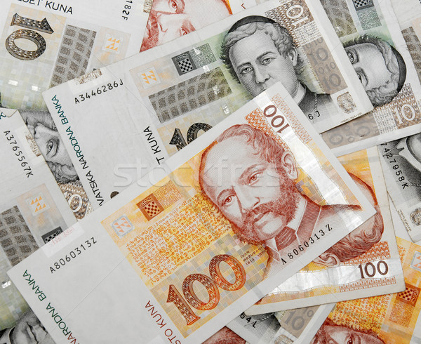 Banknotes from Croatia Stock photo © Gudella