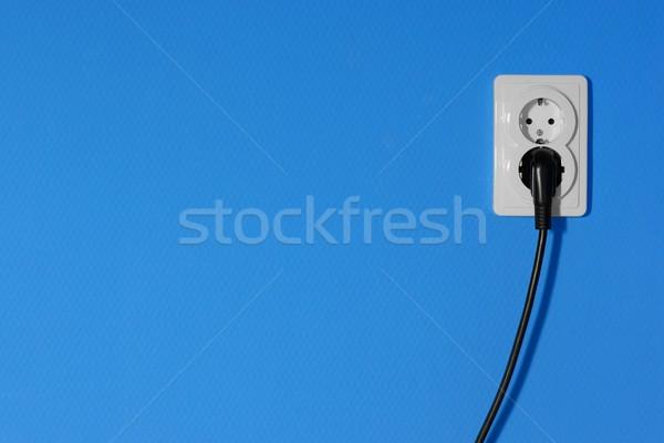 Elektrycznej elektryczne niebieski ściany domu domu Zdjęcia stock © Gudella