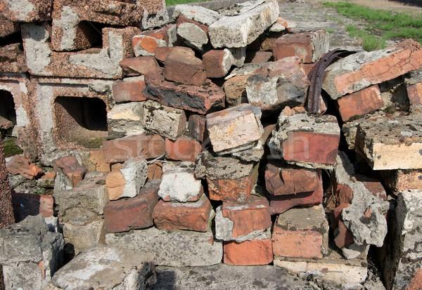 Stockfoto: Oude · muur · muur · achtergrond · steen · baksteen