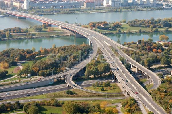 Rodovia danúbio Viena paisagem ponte rio Foto stock © Gudella