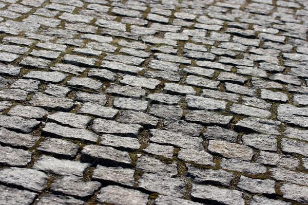 Calçada velho pedra pequeno pedras Foto stock © Gudella