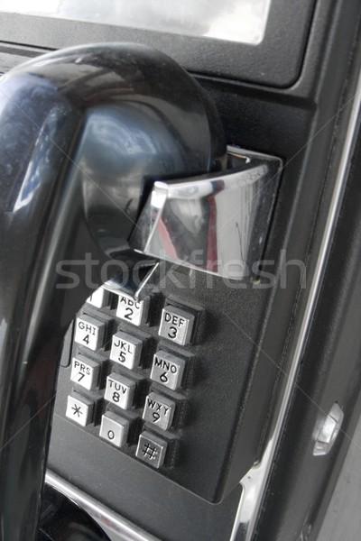 Telefone preto público comunicação chamar Foto stock © Gudella