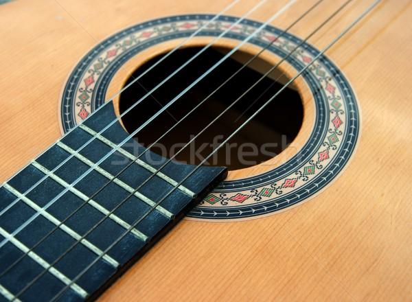 Guitarra corpo violão madeira arte espaço Foto stock © Gudella