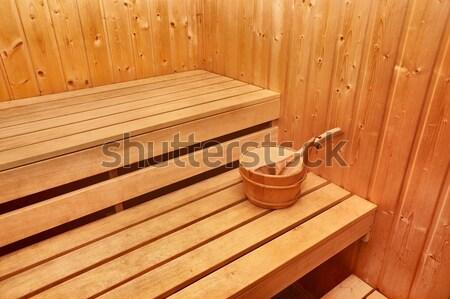 Sauna interior madeira saúde verão Foto stock © Gudella
