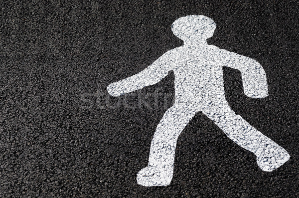 Voetganger silhouet cijfer icon symbool Stockfoto © guffoto
